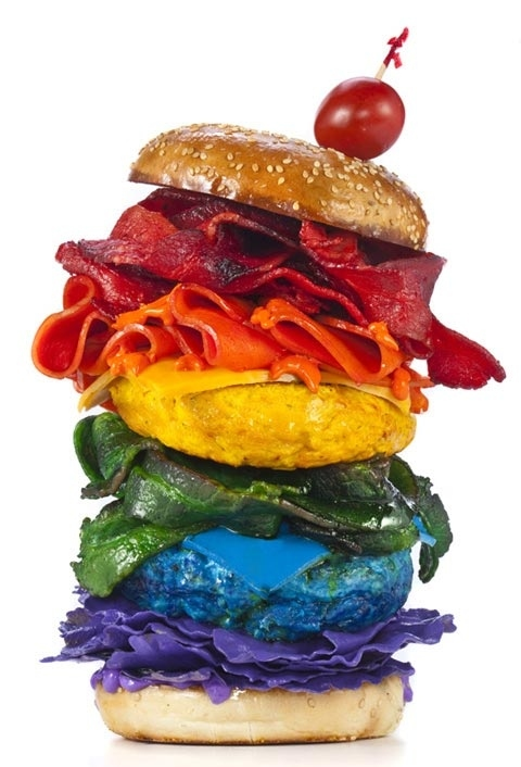 Taste The Rainbow Burger