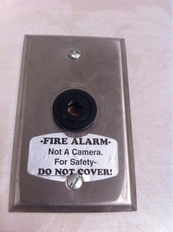 This Hotel Fire Alarm Looks Legit