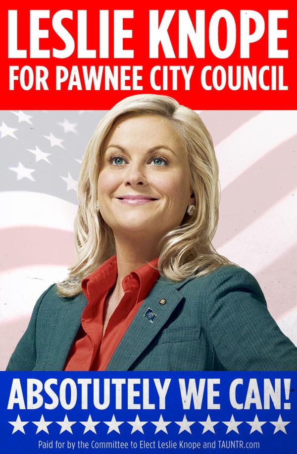 Leslie Knope Campaign Poster