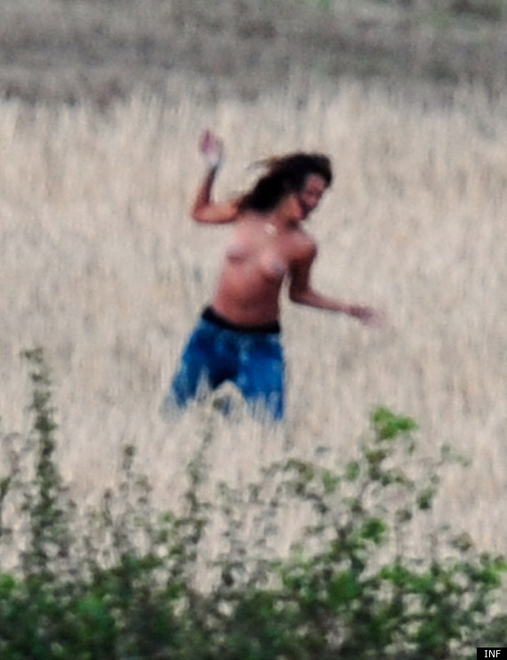 Rihanna Goes Topless During Video Shoot and Upsets a Local Irish Farmer (NSFW)