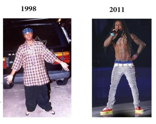 Lil Wayne 39 S Fashion 1998 Vs 2011