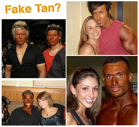 Can You Spot the Fake Tan ?