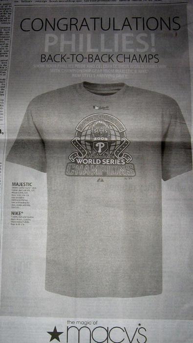 Macy's Runs Ad Congratulating Phillies Win
