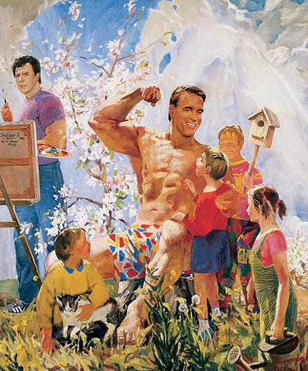 Arnold Schwarzenegger Painting!