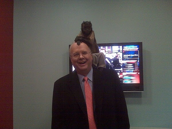 Aw, It's a Monkey On Karl Rove's Head! (WTF)