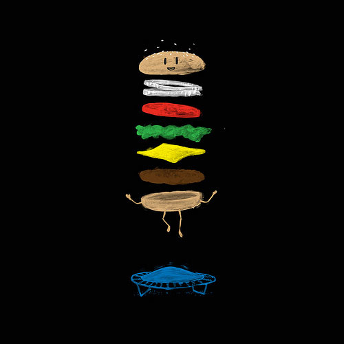 Cheeseburger On a Trampoline