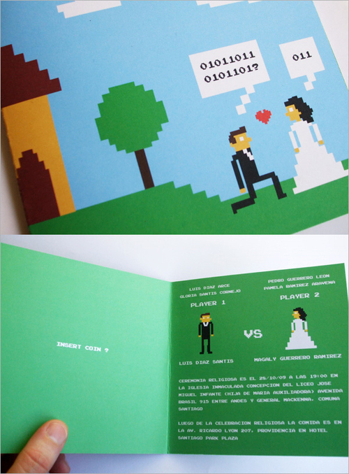 8-bit Wedding Invite