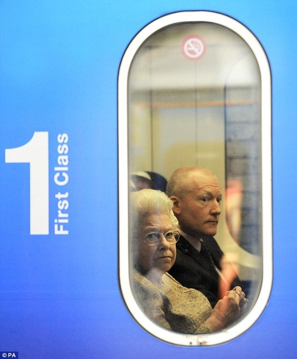 Queen Elizabeth Takes A Train