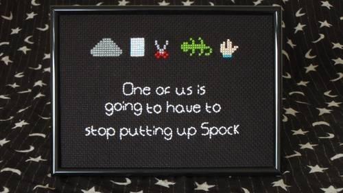 Rock, Paper, Scissors, Lizard, Spock! Cross Stitch