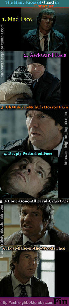"The Many Faces of Dennis Quaid in ""Horsemen"""