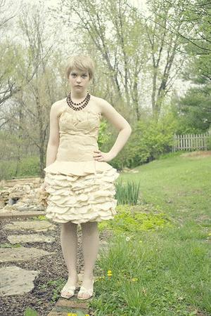 Coffee Filter Prom Dress!