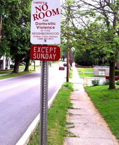 No Sunday Fundays In This Neighborhood