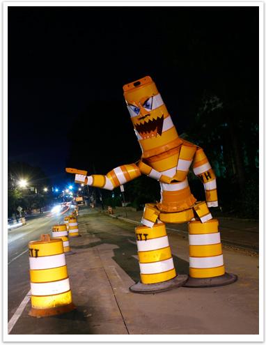 Construction Barrel Art
