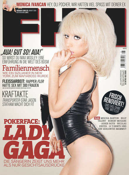 Lady Gaga Nasty in German FHM