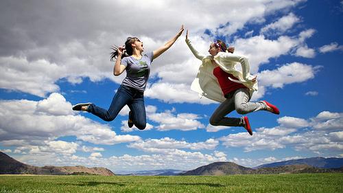 Everyone Give A Jump High Five!