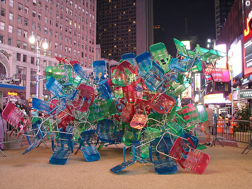 Lawn Chairs in Times Square