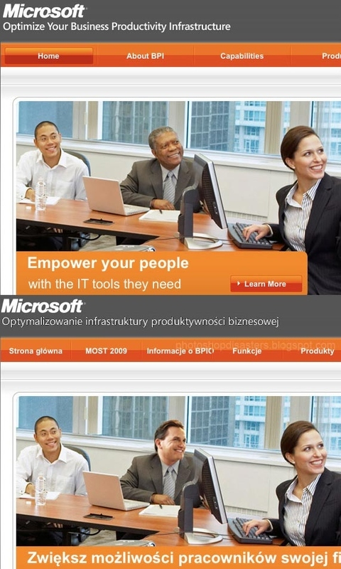 Microsoft Erases Black Man from Web Photo