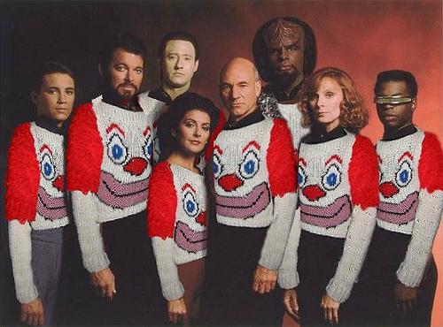 Clown Sweater: TNG
