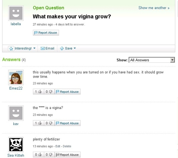 Yahoo Answers is the Encyclopedia Brittanica of Fail