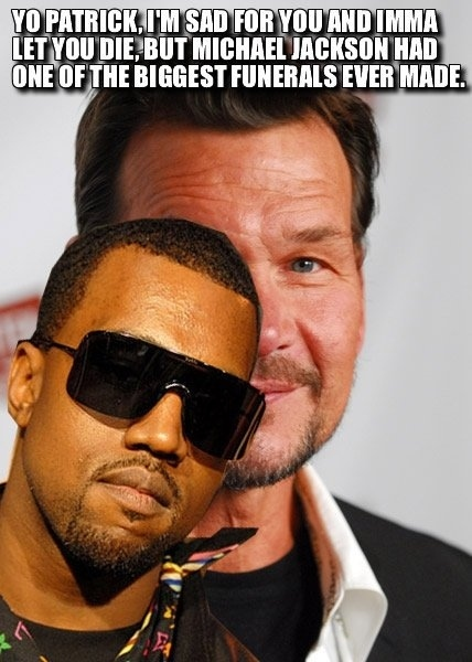 KANYE STEALS SWAYZE'S MOMENT
