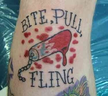 Bloody Tampon Tattoo