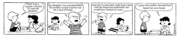 If Charles Bukowski Wrote Peanuts