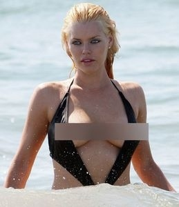 Sophie Monk Bikini Nipple Slip