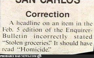 A Slight Correction