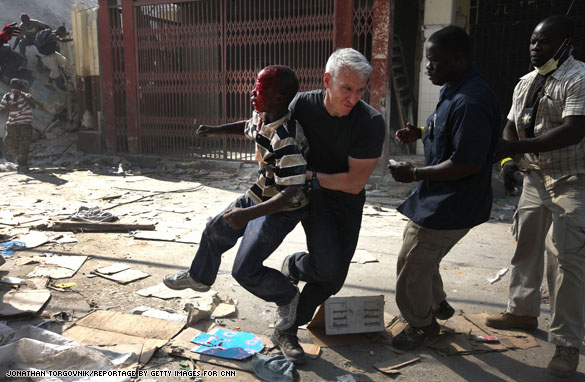 Anderson Cooper Saves Haitian Boy From Looters