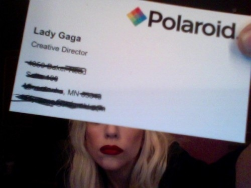 Lady Gaga, Polaroid Employee