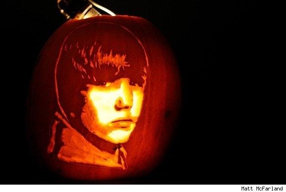Amazing Justin Bieber Pumpkin