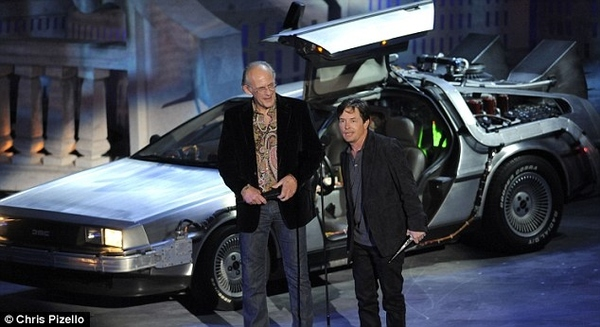 Doc Brown and Marty McFly Reunited
