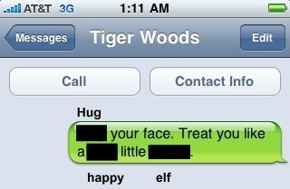 Tiger Woods' Sex Texts Through Apple's Anti-Sexting Technology