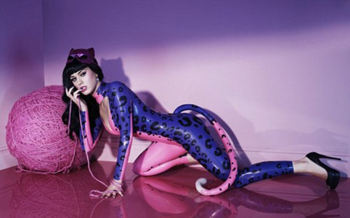 Katy Perry in a Catsuit for Purr-fume