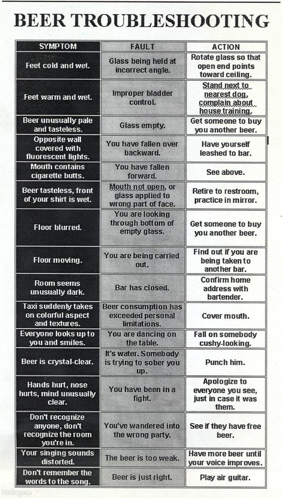 Beer Troubleshooting Info-graphic