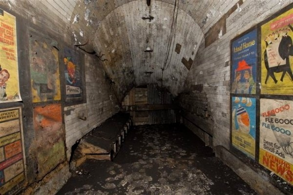 Vintage Posters Discovered In Abandoned London Tube Station