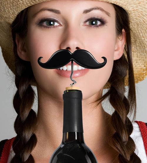 Mustache Wine Corkscrew