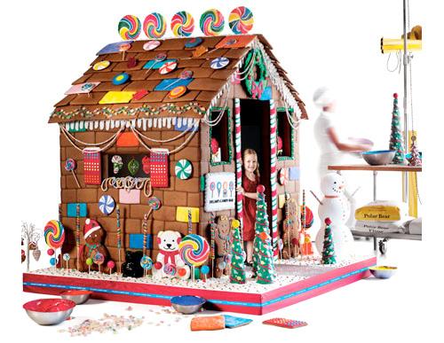 Lifesize Edible Gingerbread House