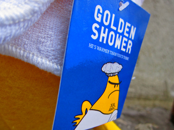 Golden Shower. Now a Stuffed Animal. Seriously.