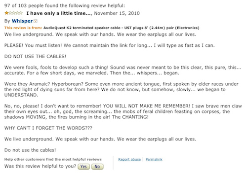 Crazy Amazon Cable Review