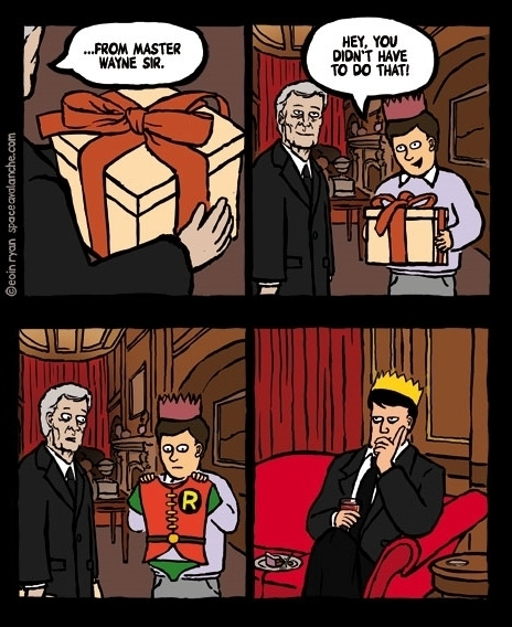 Batman Gives Robin a Present