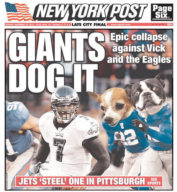 New York Post On Giants Vs. Eagles