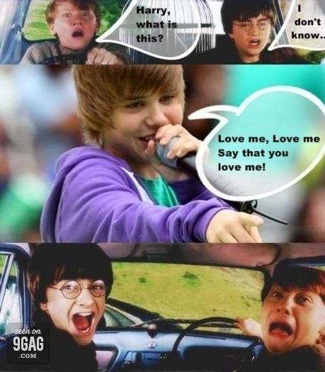 Bieber Scares Potter
