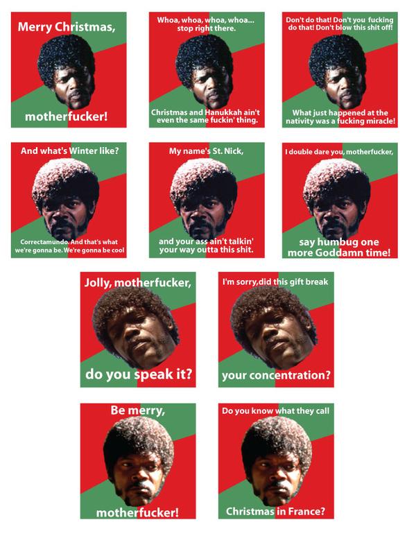 Samuel Jackson Christmas Cards