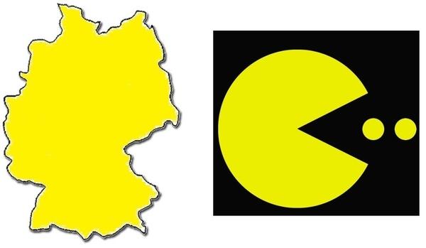 Germany Looks Like Pacman