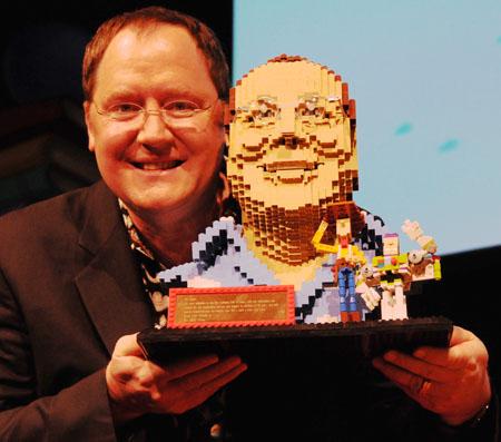 Pixar's John Lasseter's Giant LEGO Head
