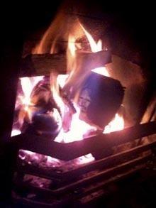 Jesus Appears in Fireplace Log Ash!