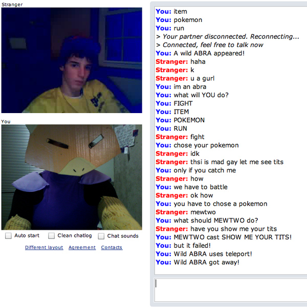 Chatroulette - A WILD ABRA APPEARS