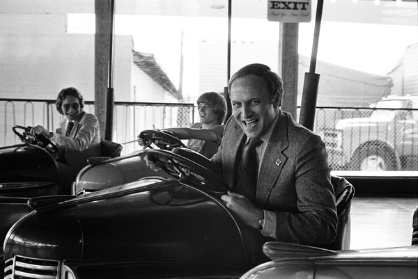 Dick Cheney In A Bumper Car