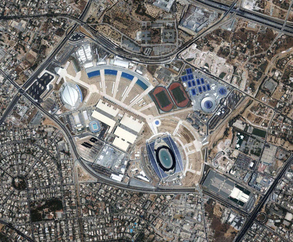 Olympic Venues Seen from Space